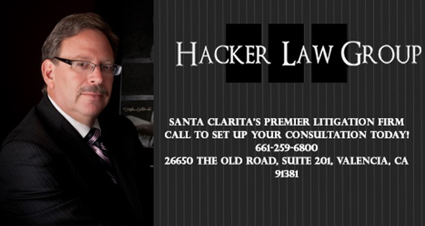 Hacker Law Group - Santa Clarita's premier litigation firm - Call to set up your consultation today! (661) 259-6800 - 26650 The Old Road, Suite 201, Valencia, CA 91381