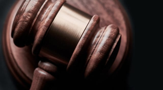 close-up photo of a gavel